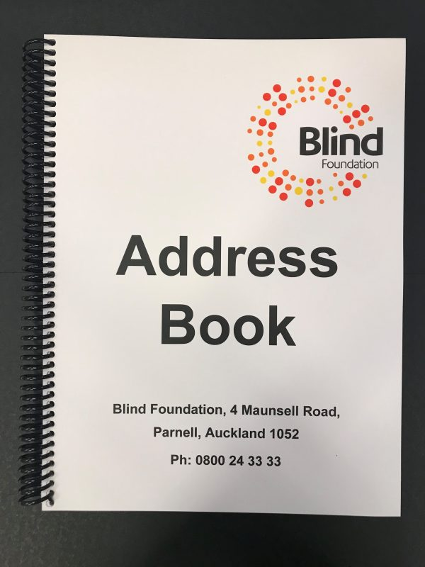 Blind Foundation Address Book