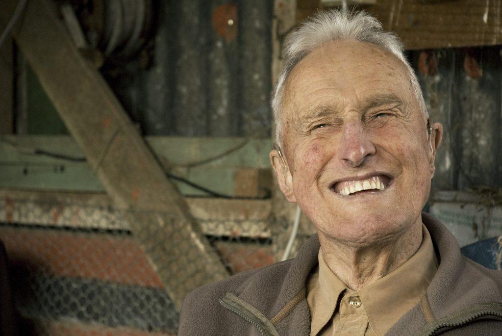 George Phiskie smiling at 88 years old.