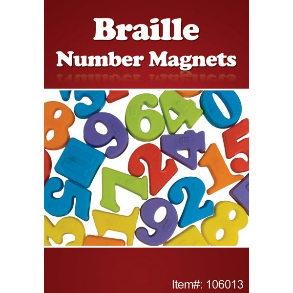 Braille number magnets