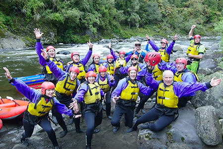 the blind foundation's 2018 ultimate seven day challenge water rafting team image