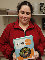 Chantelle Griffiths with her cooking book