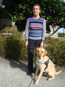 Kaye Kay-Smith with her guide dog