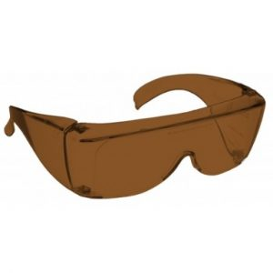 Image showing a pair of 15% Amber Medium Plastic Fitovers.