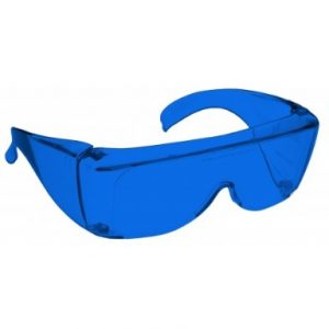Image showing a pair of 16% Blue Medium Plastic Fitovers
