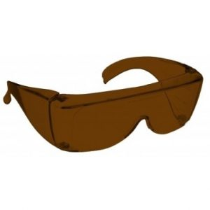 Image showing a pair of 6% Amber Medium Plastic Fitovers