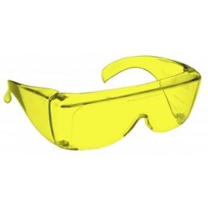 Image showing a pair of 77% Yellow medium plastic fitovers