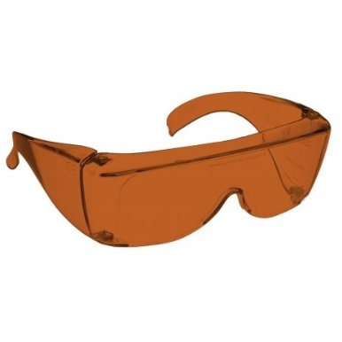 Image showing a pair of 24% Amber-orange medium plastic fitovers