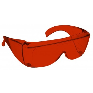 Image showing a pair of 13% Red-Orange medium plastic fitovers