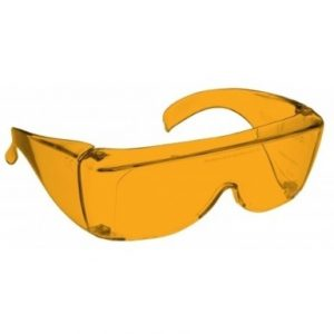Image shows a pair of 48% Orange Medium Plastic Fitovers