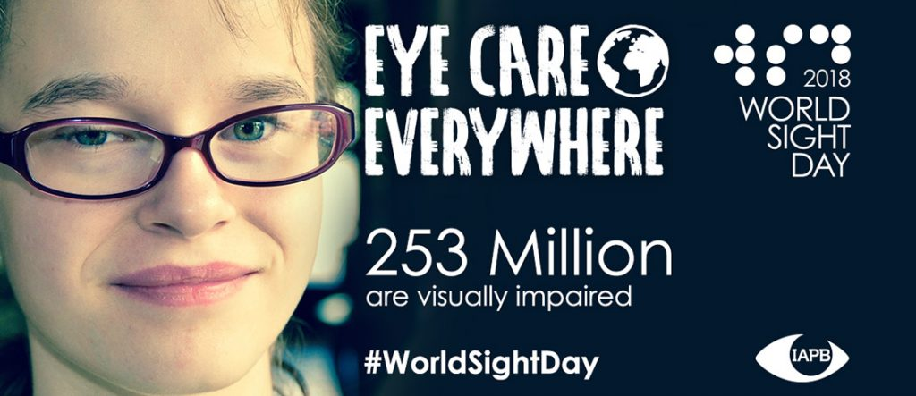 2018 world sight day poster, 253 million are visually impaired