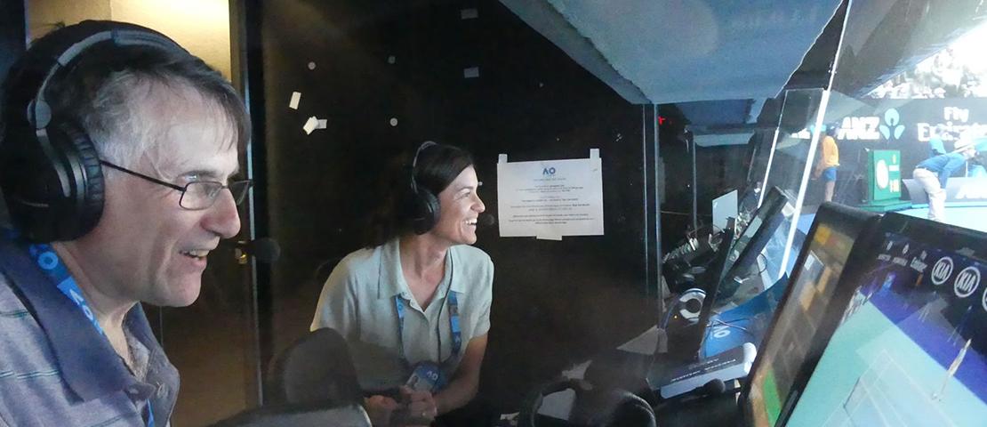 Australian open radio commentator