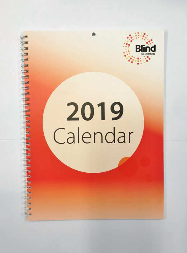 2019 A4 Book Calendar Cover