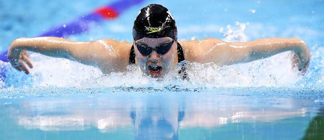 Mary Fisher is swimming