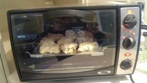 Mary's scones in the oven