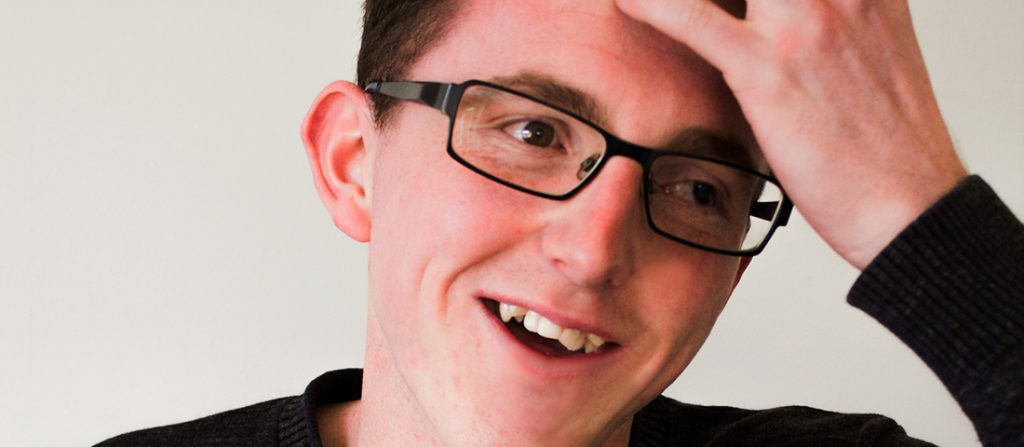 Josh Davies is smiling