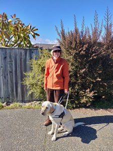 Elizabeth East and guide dog Yates