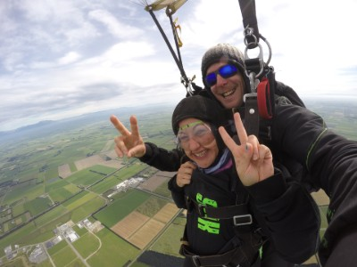 Andrea skydiving