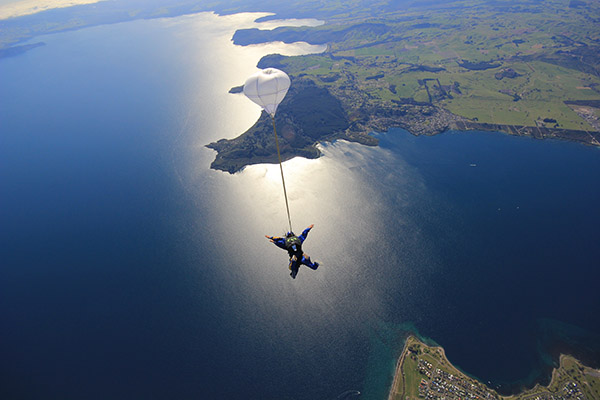 A man freefall from sky