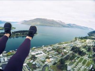 Heidi skydiving