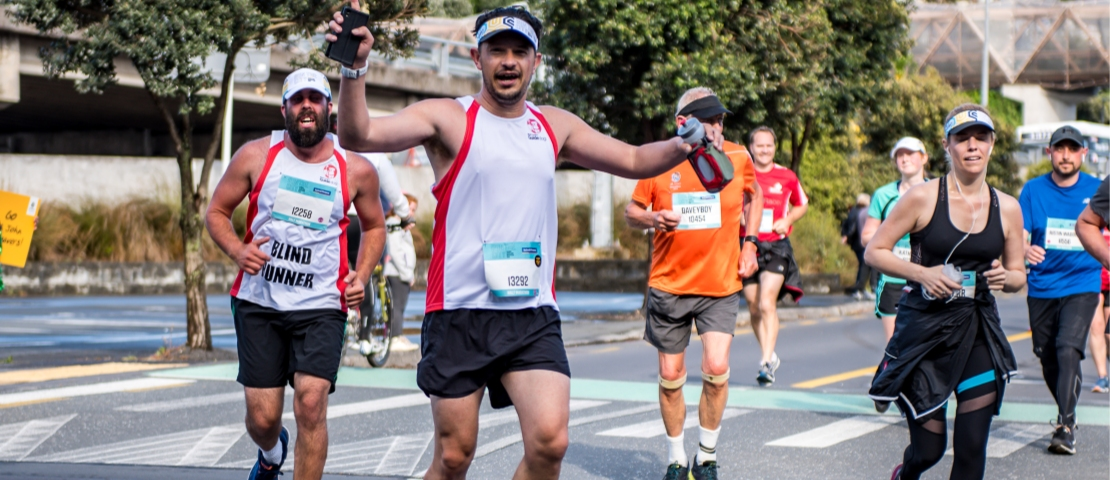 Runners run the 2019 Auckland Marathon