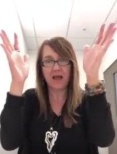 Lyneen does handwaves (Deaf applause)