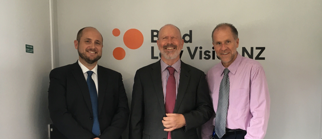 Dan Shepherd, Area Manager, Rick Hoskin, Board Chair and John Mulka, Chief Executive at the official opening.