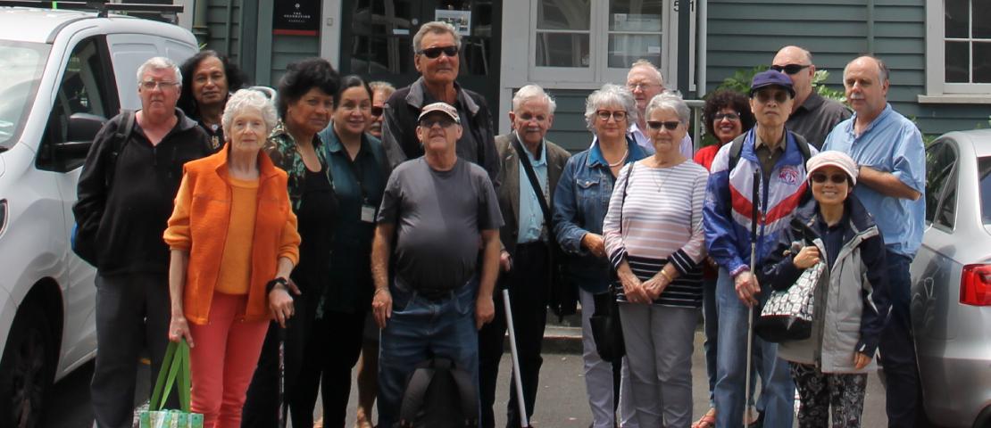 Group outside Nathan House