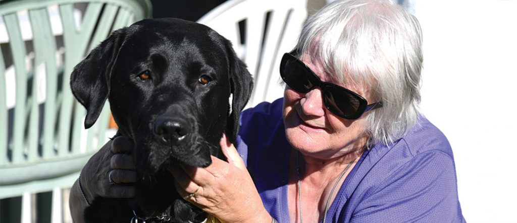 Rhonda and her guide dog Liam