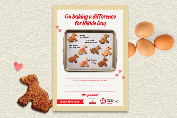 Poster for promoting your Bikkie Day event
